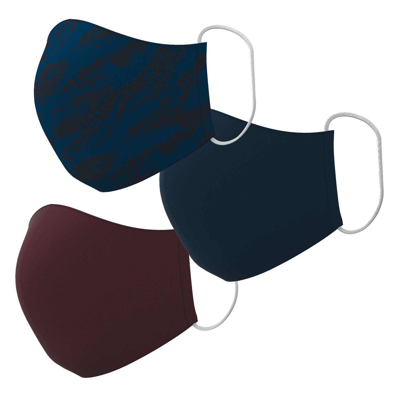 Textile Mund-Nasen-Masken 3er-Set