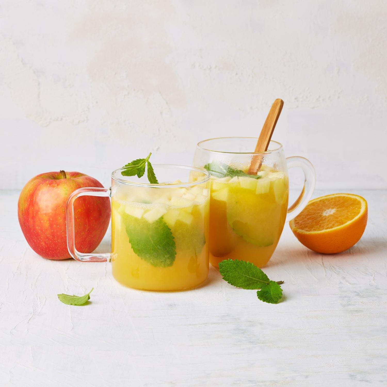 Heißer Apfel-Orangen-Cocktail