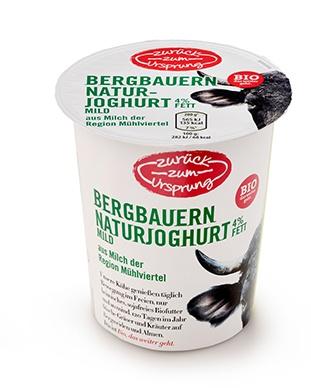 ZZU Österreich. BIO-Bergb. Natrujoghurt 0,9% / 3,6% Fett 400g