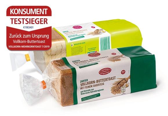 ZZU BIO-Toast Vollkorn / Weizen 500g