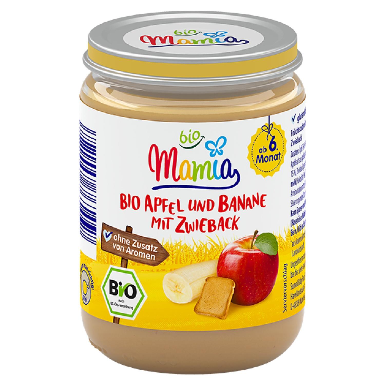 Mamia bio Bio-Apfel-und-Banane-mit-Zwieback 190 g