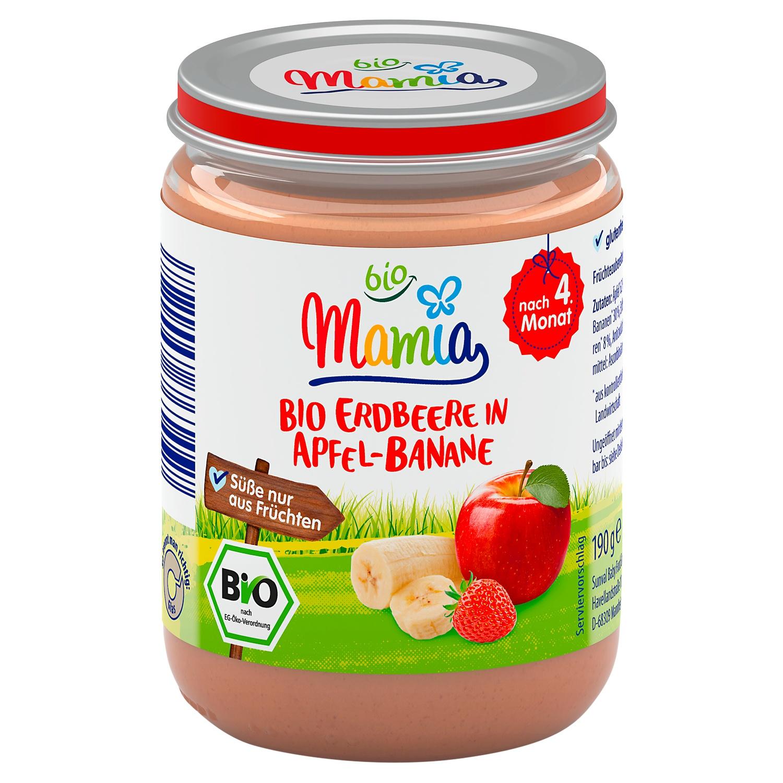 Mamia bio Bio Erdbeere in Apfel-Banane 190 g