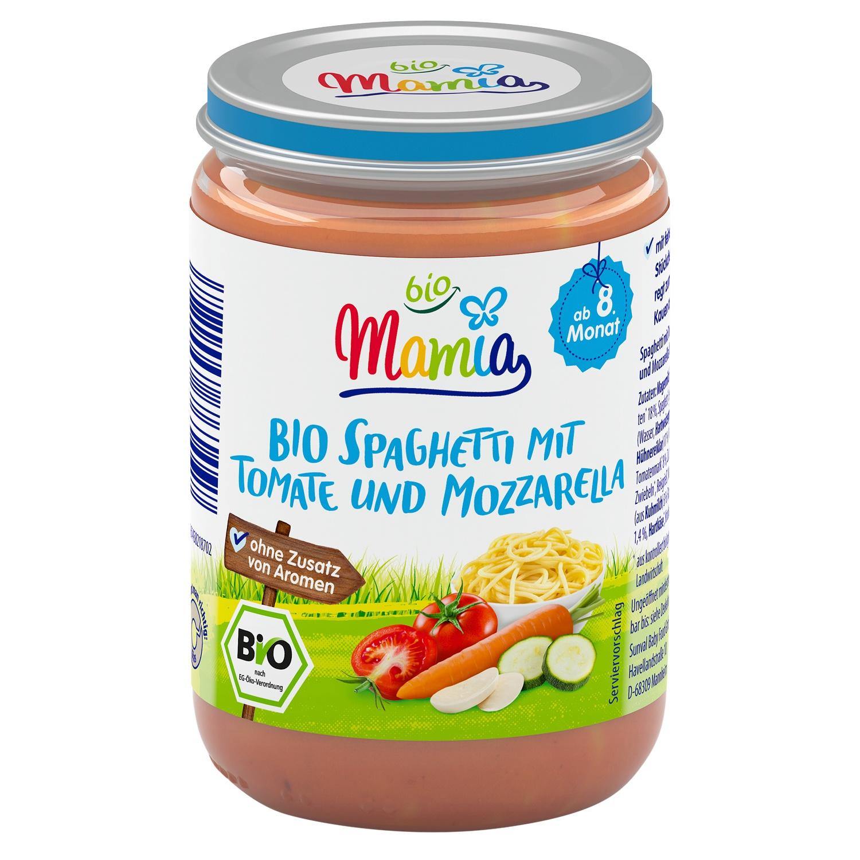 Mamia bio Bio Spaghetti mit Tomate und Mozzarella 220 g