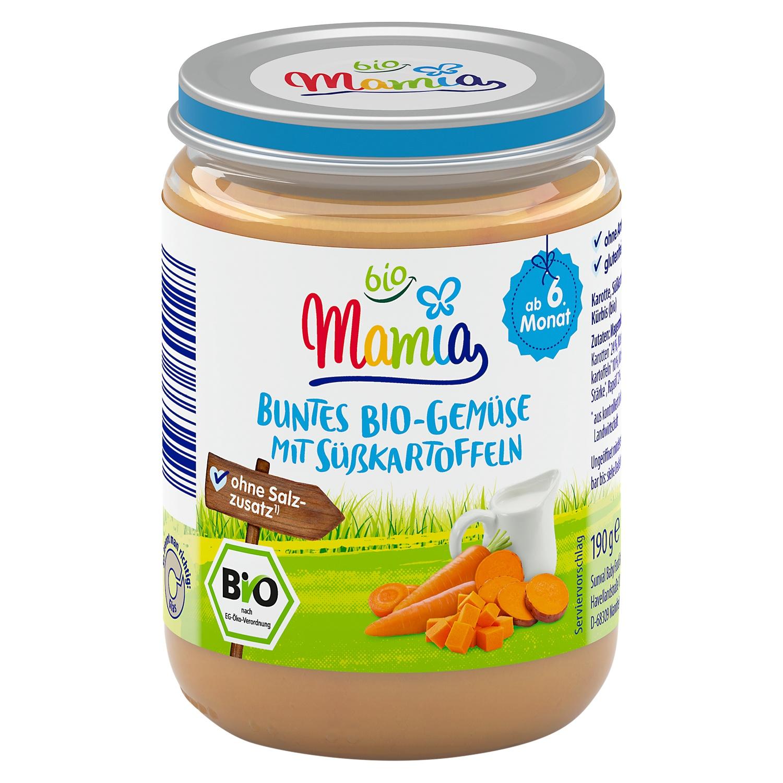 Mamia bio Buntes Bio-Gemüse mit Süßkartoffeln 190 g