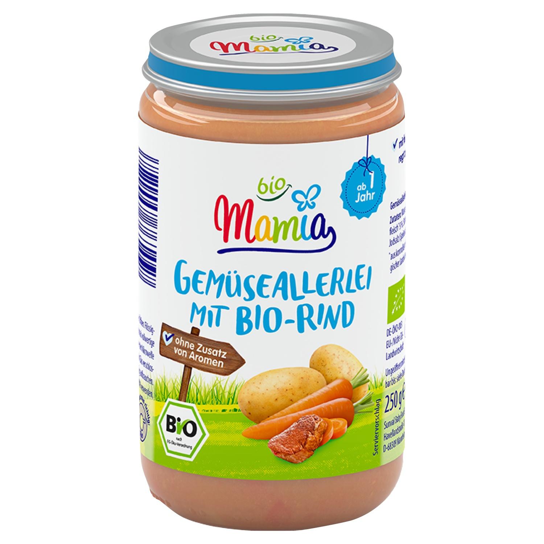 Mamia bio Gemüseallerlei mit Bio-Rind 250 g