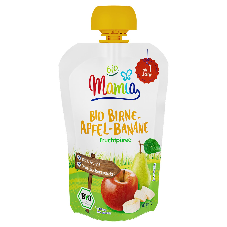 Mamia bio Bio-Quetschbeutel Birne-Apfel-Banane 100 g