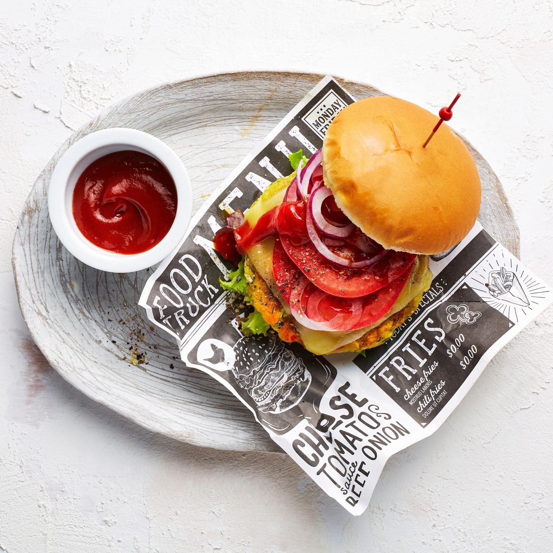 Vegetarischer Zucchini-Burger