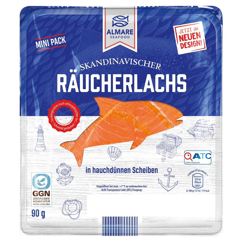 ALMARE Räucherlachs, Mini-Pack 90 g
