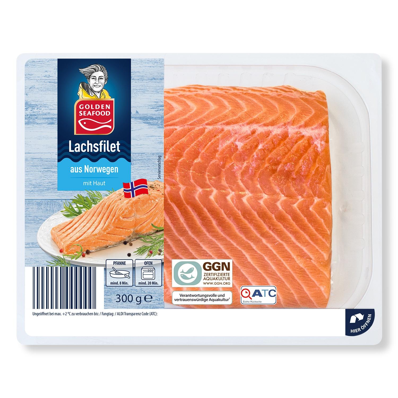 GOLDEN SEAFOOD Norwegisches Lachsfilet 300 g