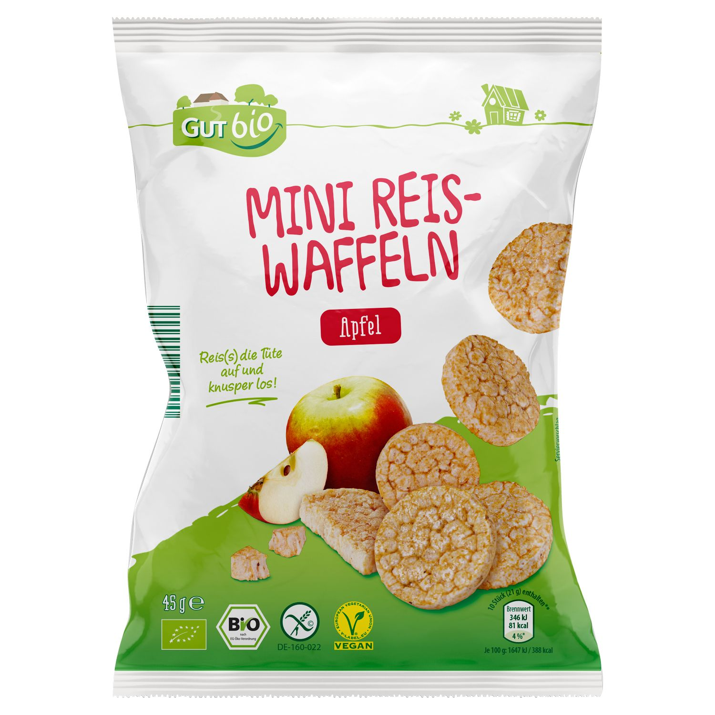 GUT bio Bio Mini Reis-/Maiswaffeln 45 g