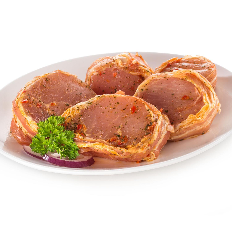 GOURMET Fleisch-Delikatessen, Karreerose im Speckmantel