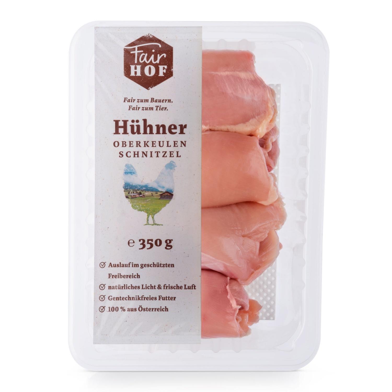 FairHOF Hühnerfleisch-Variation, Oberkeulenschnitzel