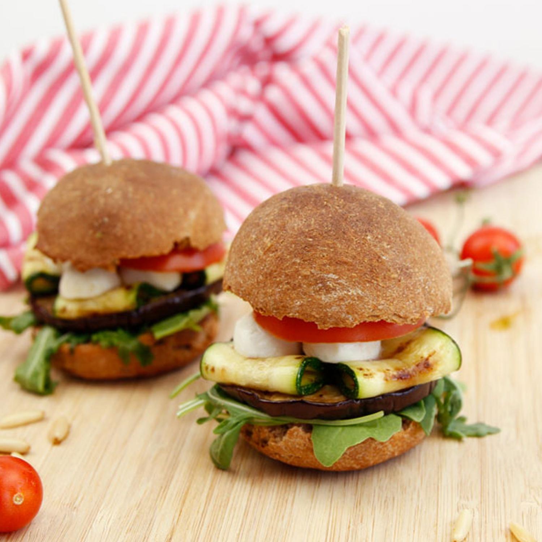Mini-Burger mit Gemüse