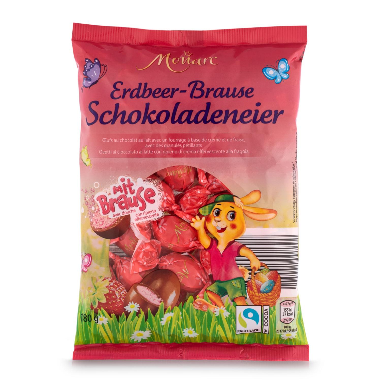 MONARC Vollmilch-Schokoladeneier, Erdbeer