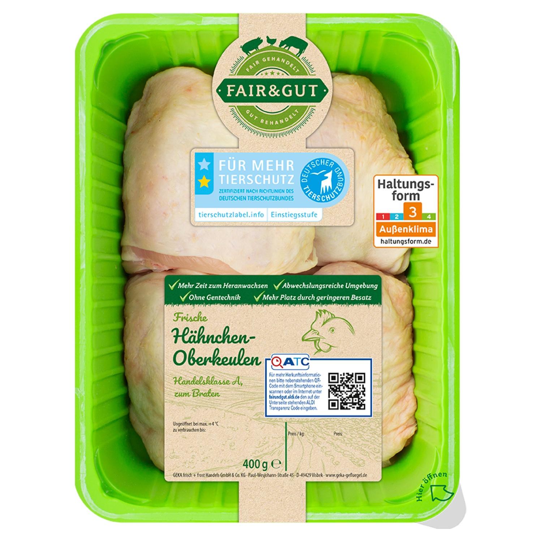 FAIR & GUT Hähnchen-Oberkeulen 400 g
