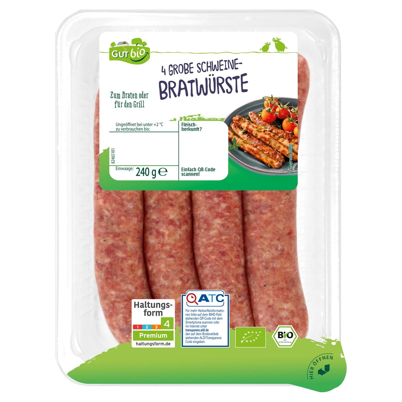 GUT bio Grobe Bratwurst 240 g