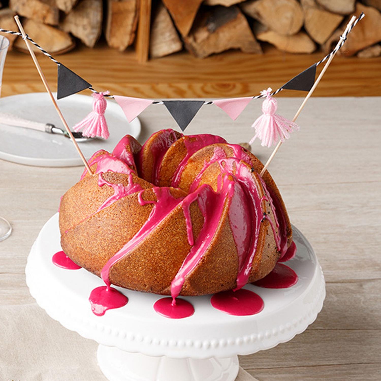 Saftiger Marmorkuchen in Pink