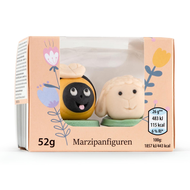 Oster-Marzipanfiguren, Biene und Schaf