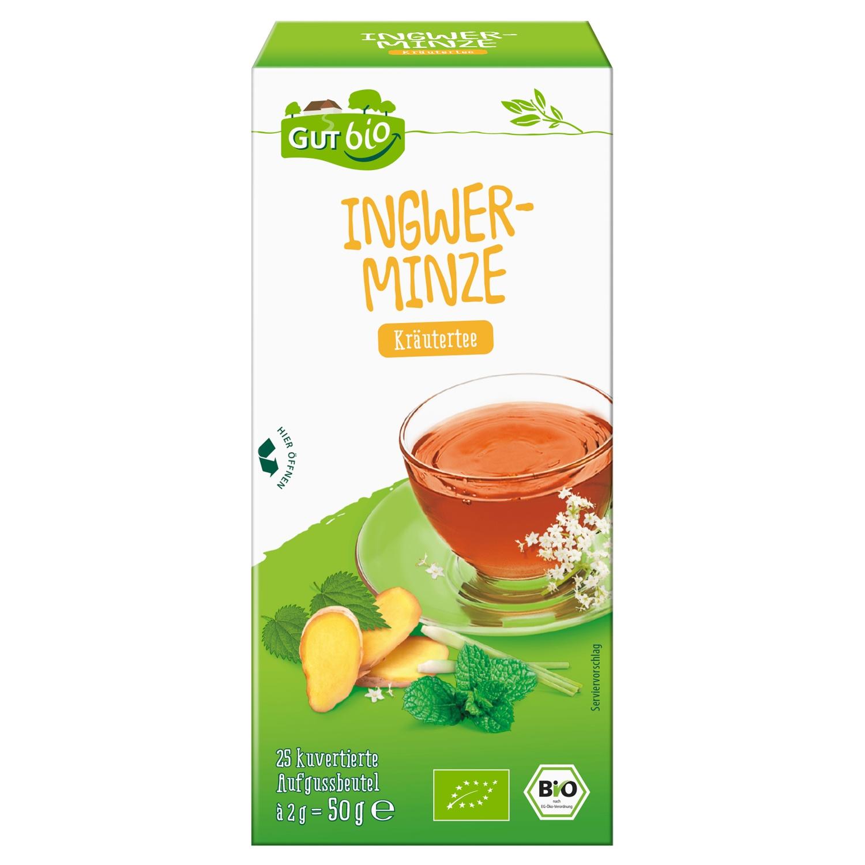 GUT bio Ingwer-Minze 25 Beutel