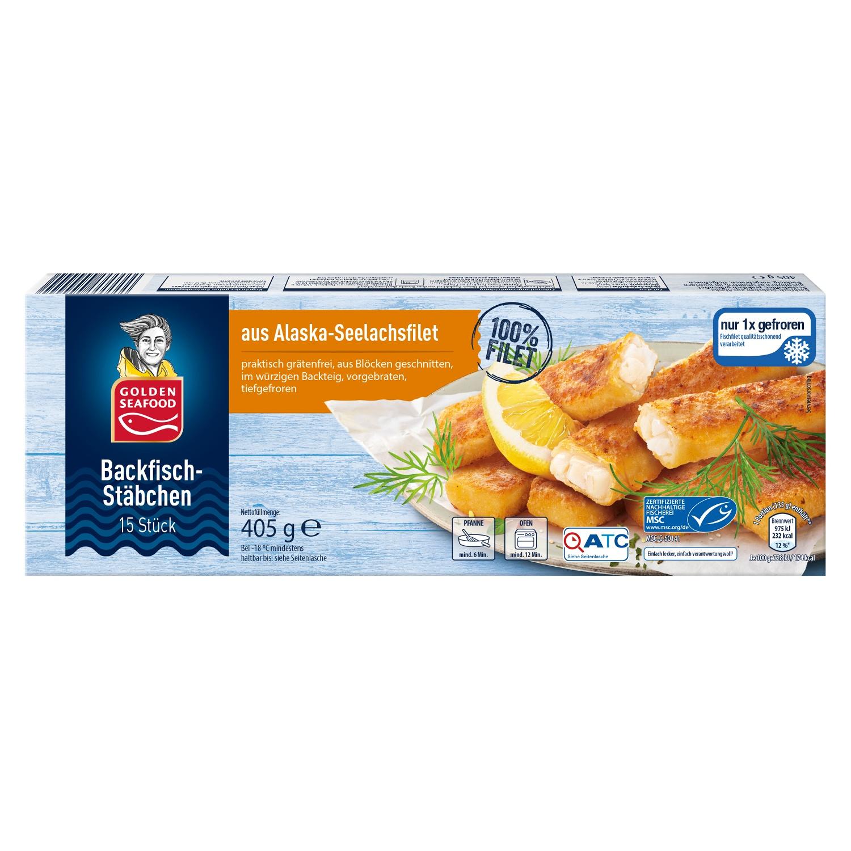 Golden Seafood Backfisch-Stäbchen 405 g