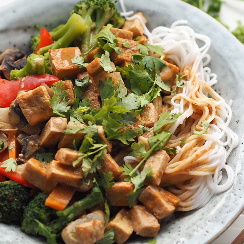 Baked Tofu Asian Style
