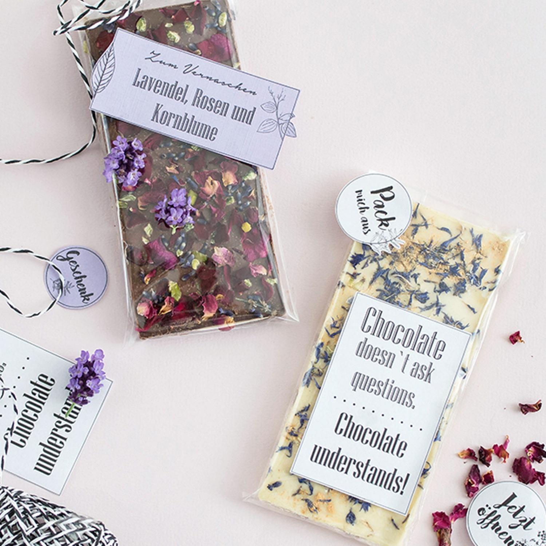 Blumenschokolade