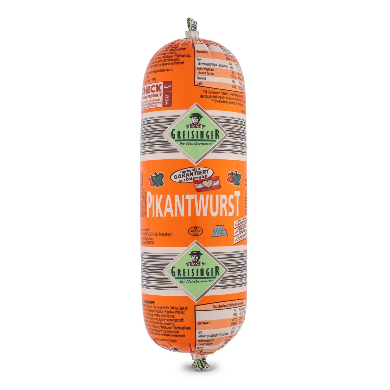 Extrawurst-Stange, Pikant
