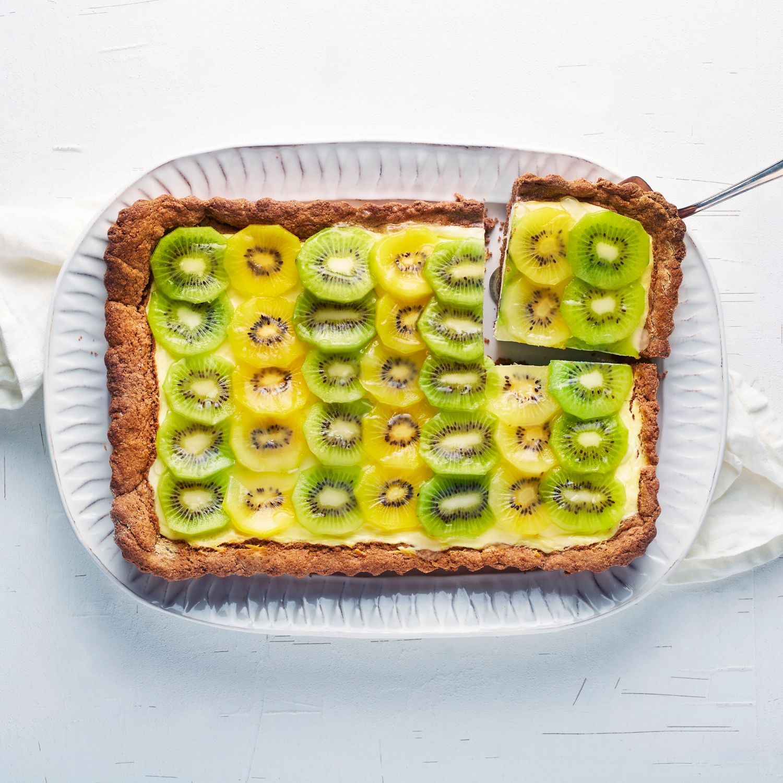 Kiwi-Käse-Blechkuchen