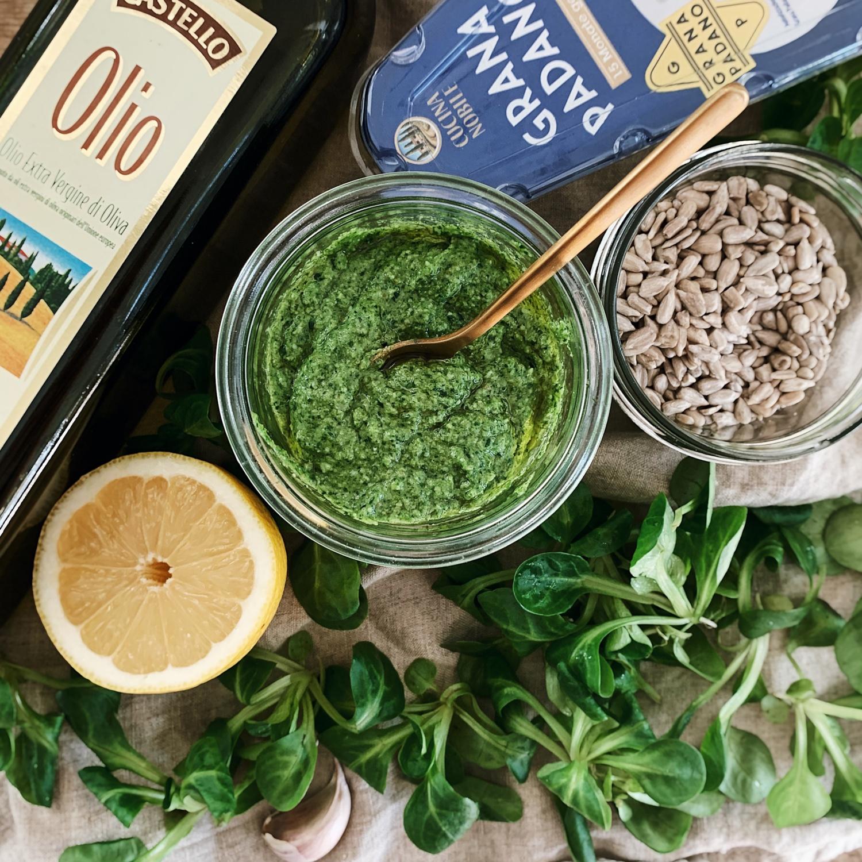 Vogerlsalat-Pesto