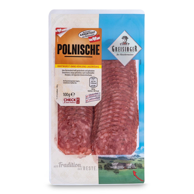 Hartwurst geschnitten, Polnische