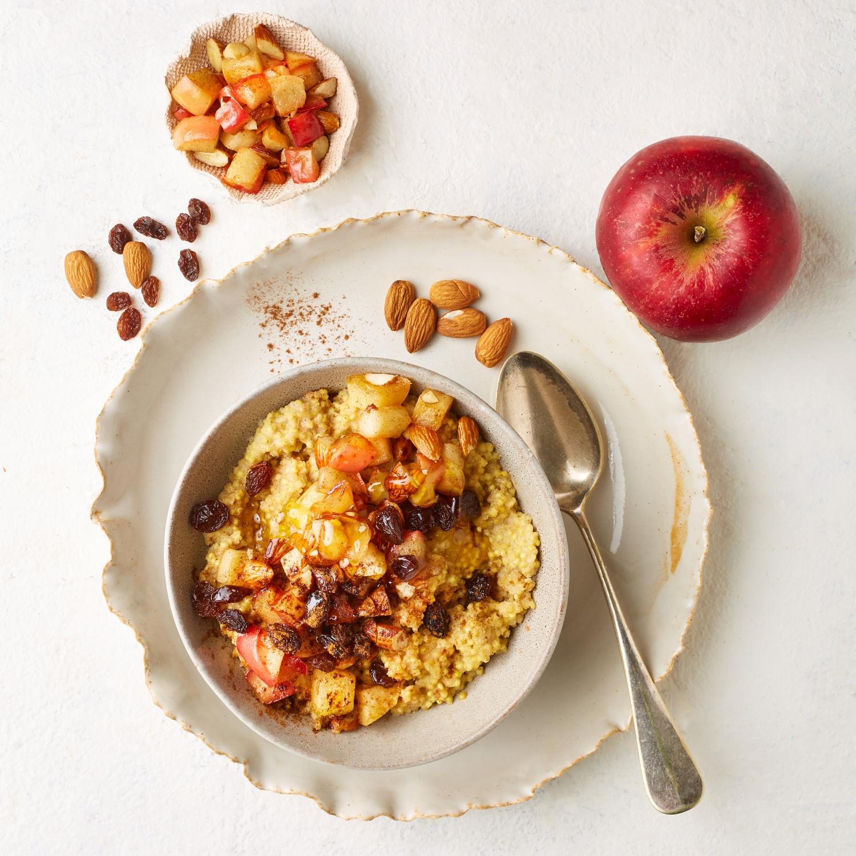 Apfel-Porridge mit Hirse