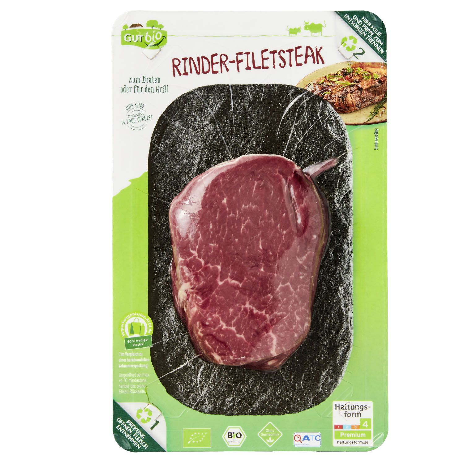 GUT bio Bio-Rinder-Filetsteak