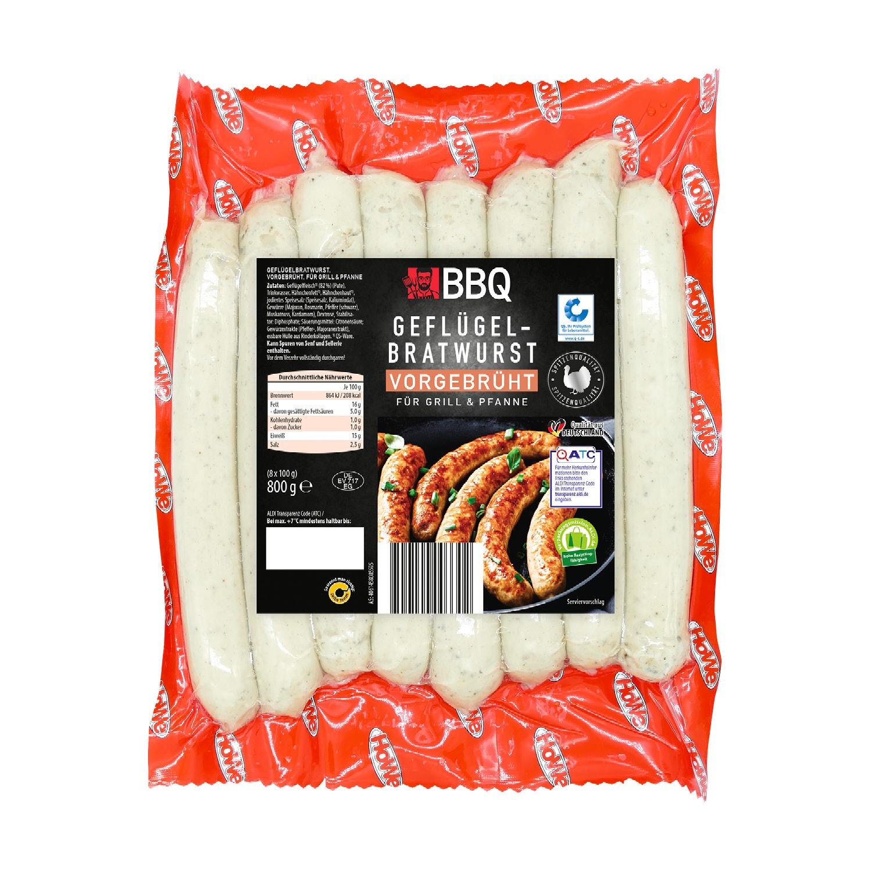 BBQ Geflügelbratwurst 800 g