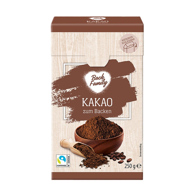 BACK FAMILY Kakao zum Backen 250 g