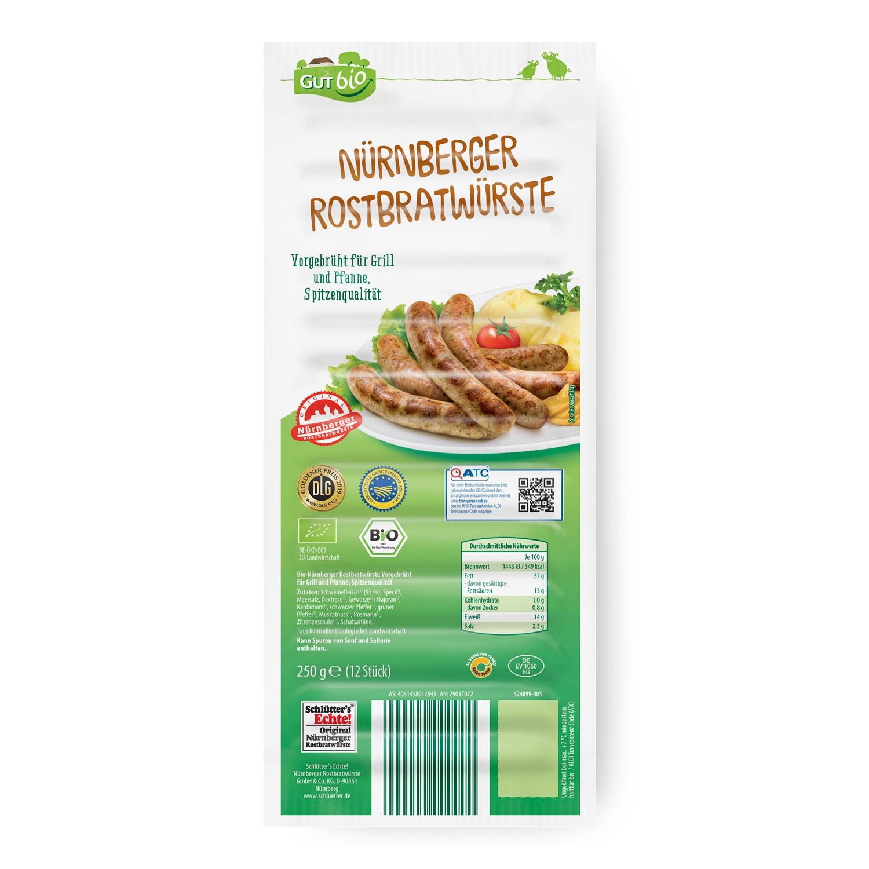 GUT bio Bio-Nürnberger Rostbratwürste 250 g