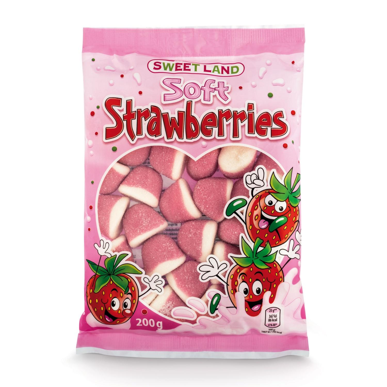 SWEET LAND Fruchtgummi, Schaumerdbeeren