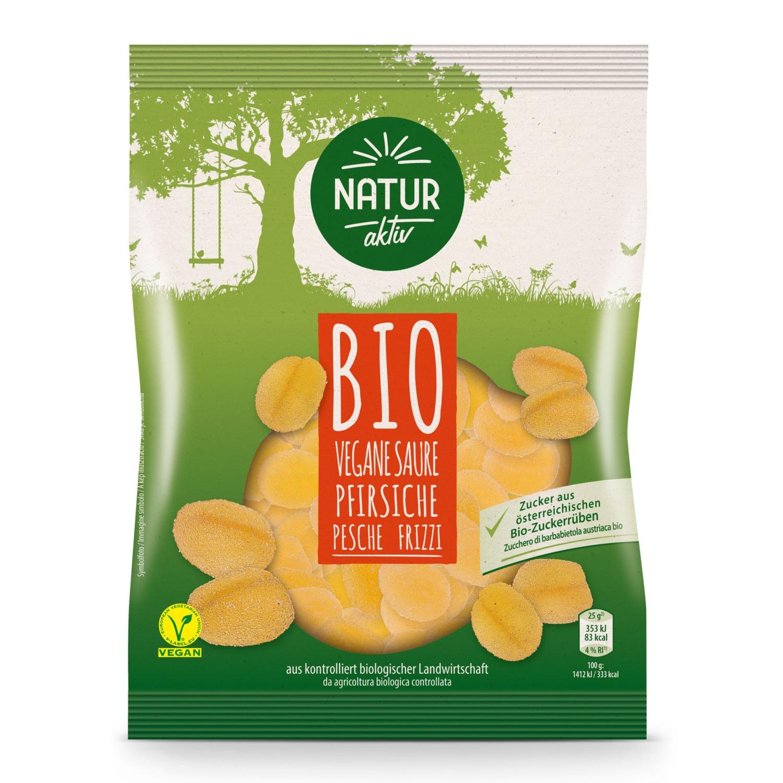 NATUR AKTIV BIO-Fruchtgummi, Saure Pfirsiche
