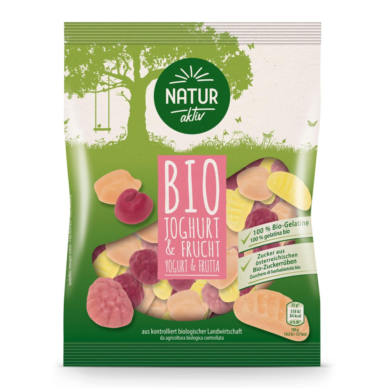 NATUR AKTIV BIO-Fruchtgummi, Joghurt und Frucht