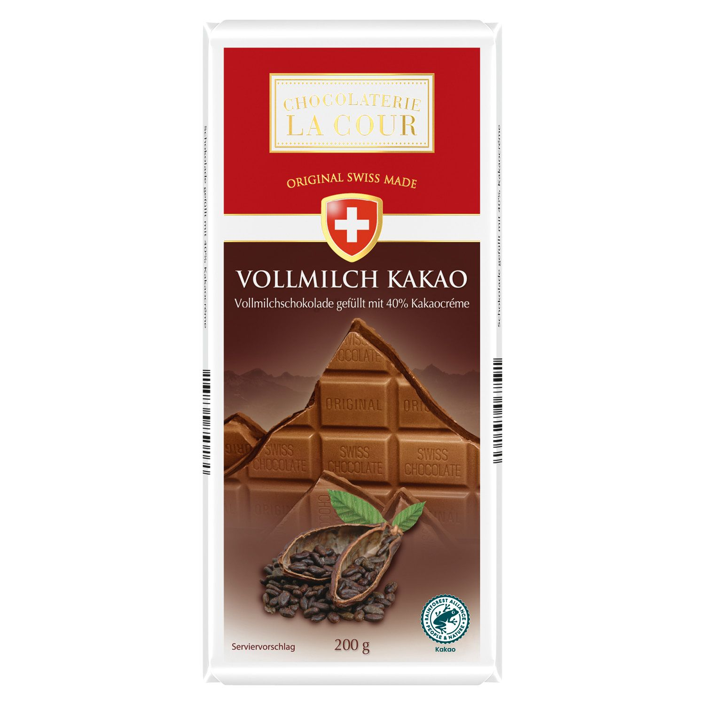 CHOCOLATERIE LA COUR Schweizer Tafelschokolade 200 g*