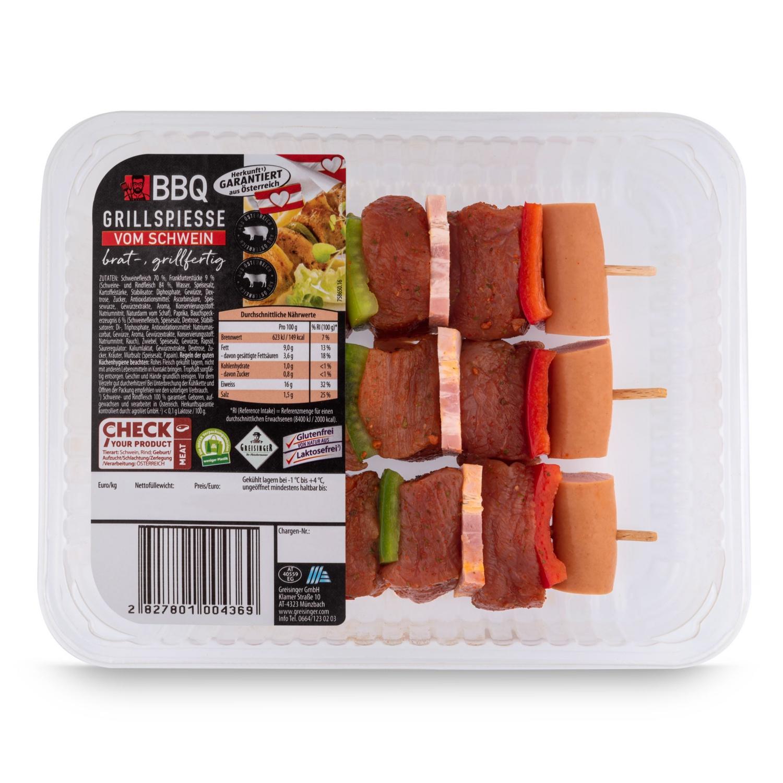 BBQ Grillspieße, Schwein