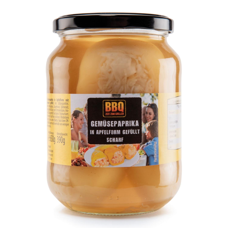 BBQ Paprika gefüllt, Apfelpaprika gelb