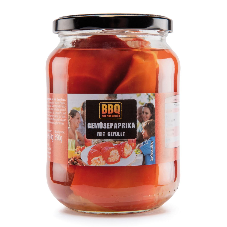 BBQ Paprika gefüllt, roter Paprika