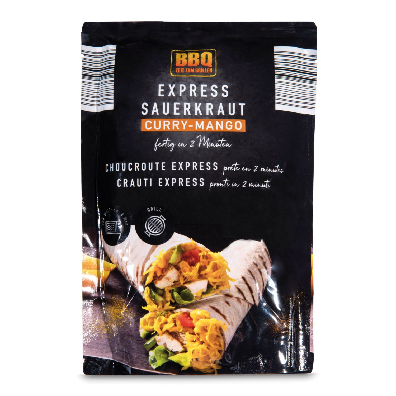 BBQ Express-Sauerkraut, Curry-Mango-Kraut