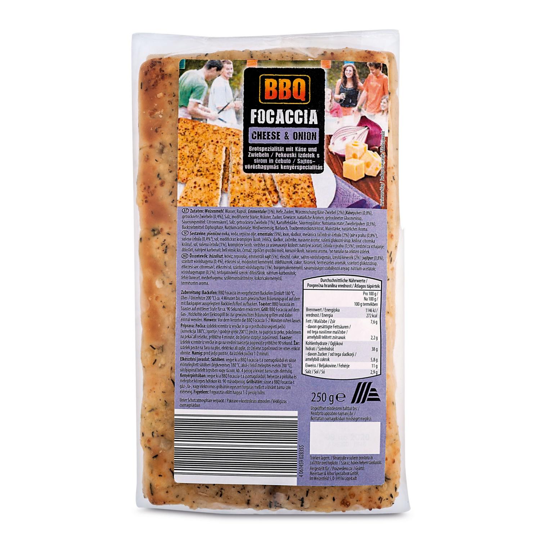 BBQ Focaccia, Käse-Zwiebel