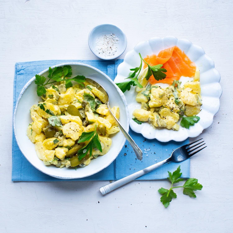 Norddeutscher vegetarischer Kartoffelsalat