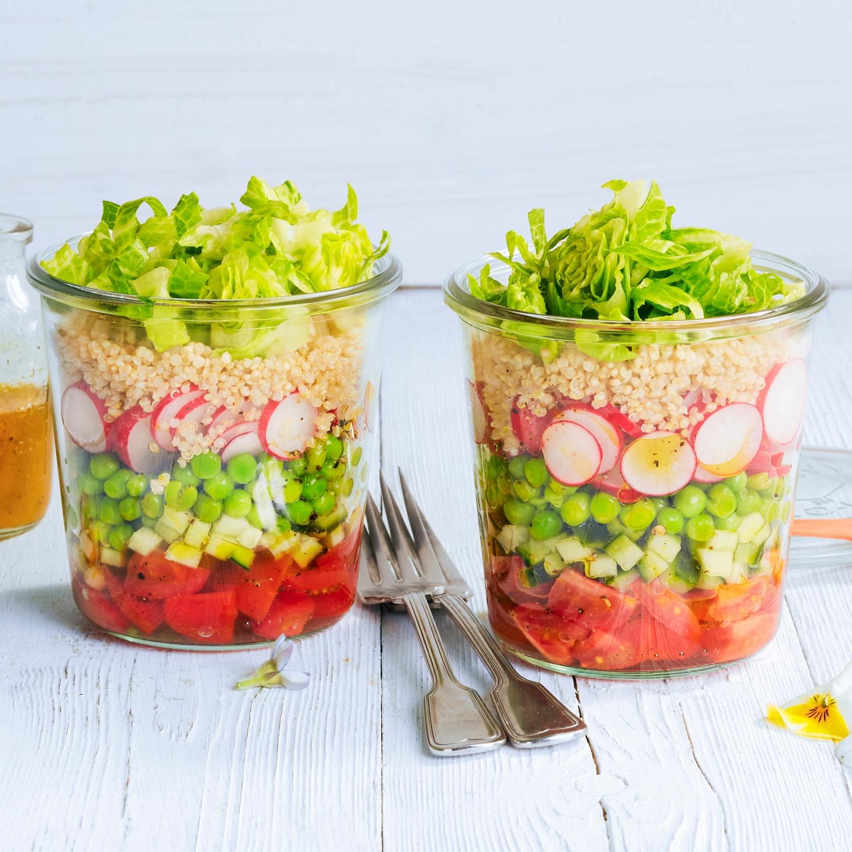 Quinoa-Schichtsalat