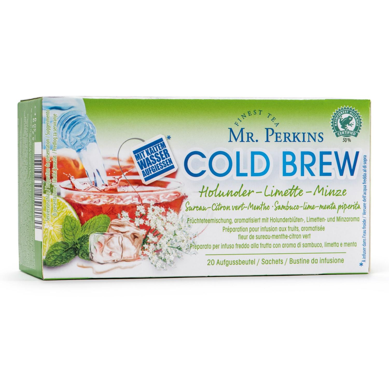 MR. PERKINS Cold Brew Früchte, Holunder-Limette-Minze