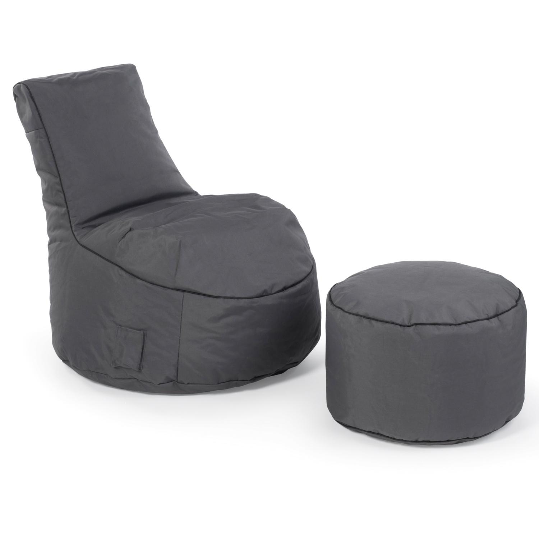 LIVING STYLE Sitzsack mit Hocker