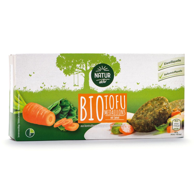 NATUR AKTIV Tofu Medaillons mit Spinat