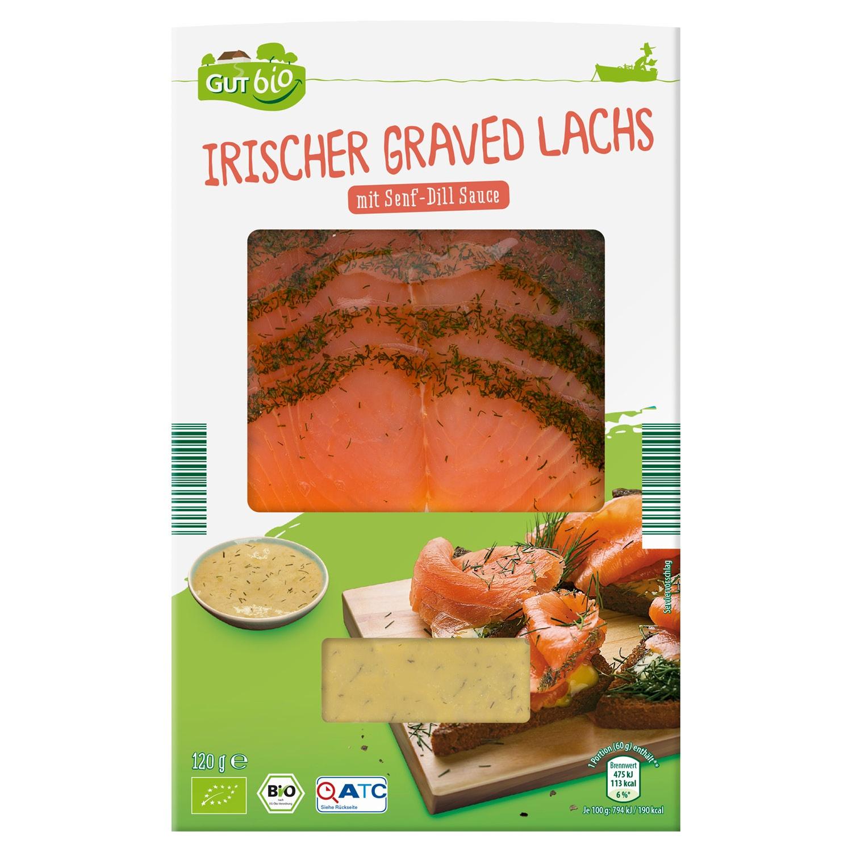 GUT bio Bio Irischer Graved Lachs 120 g*